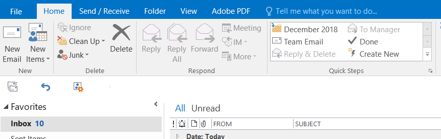 Out of Office Replies, Step 1