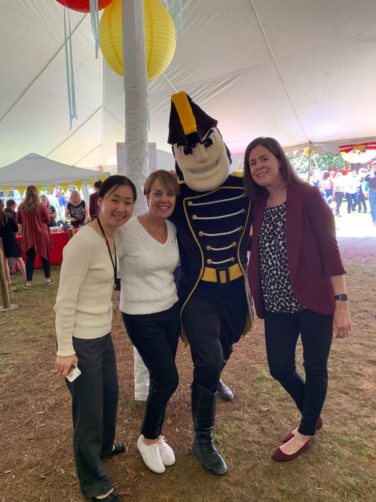 LTDS staff with Mr. Commodore at the 2019 Vanderbilt Employee Picnic
