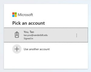 outlook.SEM.pickAccount